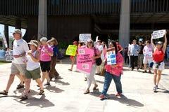 De Unie Maart van de Arbeider van Wisconsin van de steun Stock Foto