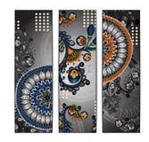 De unieke abstracte etnische reeks van de patroonkaart Stock Afbeelding