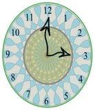De unieke klok van de stilistmuur Stock Afbeeldingen