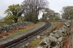 De unieke mening van spoorweg stock afbeeldingen