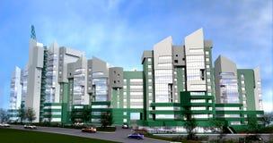 De unieke moderne bouw stock illustratie