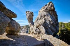 De unieke vormingen van de granietrots in Sequoia Nationaal Park stock fotografie