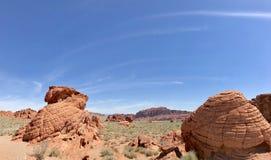 De unieke Vormingen van de Zandsteenrots, Vallei van het Park van de Brandstaat, Nevada, de V.S. royalty-vrije stock afbeelding