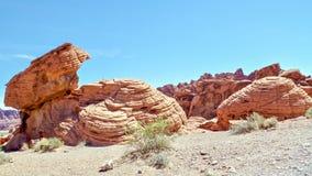 De unieke Vormingen van de Zandsteenrots, Vallei van het Park van de Brandstaat, Nevada, de V.S. stock afbeeldingen