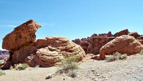 De unieke Vormingen van de Zandsteenrots, Vallei van het Park van de Brandstaat, Nevada, de V.S. stock fotografie