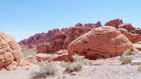 De unieke Vormingen van de Zandsteenrots, Vallei van het Park van de Brandstaat, Nevada, de V.S. royalty-vrije stock fotografie