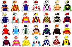 De Uniformen van de jockey Royalty-vrije Stock Afbeeldingen