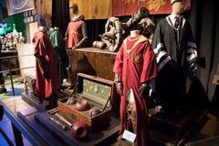 De uniformen van Harry Potter quidditch Stock Foto's