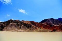 De unika landformsna av Gansu, Kina Arkivfoton