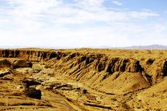 De unika landformsna av Gansu, Kina Royaltyfri Foto