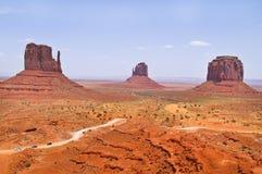 De unika landskap av monumentdalen, Utah, USA Fotografering för Bildbyråer