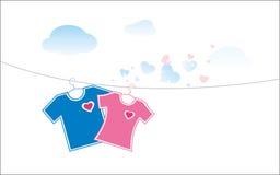 De unisex-t-shirt stock illustratie