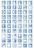 De universele Pictogrammen van het Overzicht Stock Foto's