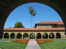 De Universitaire Campus van Stanford Stock Foto's
