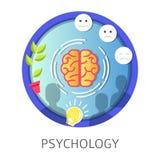De universitaire discipline van psychologiestudies over het menselijke mening functioneren vector illustratie