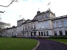 De universitaire hoofd de campusbouw van Cardiff stock afbeelding