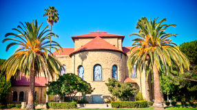 De universitaire kapel van Stanford Stock Afbeelding