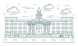 De universitaire lijnbouw royalty-vrije illustratie