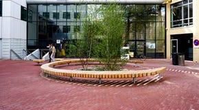De Universiteit van Amsterdam (UVA) stock afbeeldingen