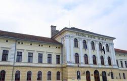 De Universiteit van Andrei Saguna, Brasov stock foto's