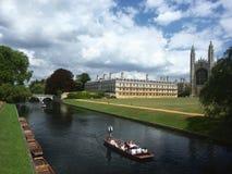De Universiteit van Cambridge, Engeland stock foto
