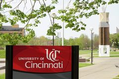 De Universiteit van Cincinnati, Ohio royalty-vrije stock fotografie