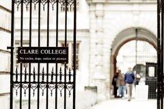 De universiteit van Clare, de universiteit van Cambridge, Engeland Royalty-vrije Stock Foto's