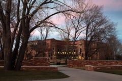 De universiteit van Colorado stock afbeelding