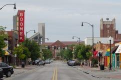 De Universiteit van de aspisweg van Oklahoma Stock Foto