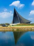De Universiteit van de dakstructuur in Thailand. Stock Foto's