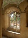 De Universiteit van de drievuldigheid, binnenland, de Universiteit van Cambridge stock afbeeldingen