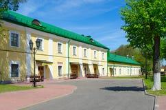 De Universiteit van de Polotskstaat complex van gebouwen van vroeger Jezuïetcollegium, Wit-Rusland stock afbeelding
