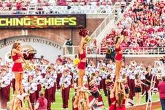 De Universiteit van de Staat van Florida Cheerleaders Stock Foto