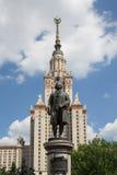 De Universiteit van de Staat van Lomonosovmoskou, hoofdgebouw, Rusland Royalty-vrije Stock Foto