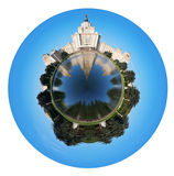 De Universiteit van de Staat van Lomonosovmoskou in Moskou royalty-vrije stock foto's