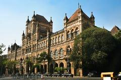 De Universiteit van Elphinstone in Mumbai, India stock foto's