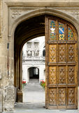 De universiteit van erker, de universiteit van Oxford, Engeland. Stock Afbeeldingen