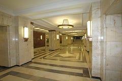 De Universiteit van Moskou binnen, Moskou stock foto