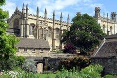 De Universiteit van Oxford, Kathedraal Christchurch Royalty-vrije Stock Afbeeldingen