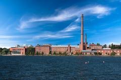 De Universiteit van Vaasa in de oude fabrieksbouw Stock Afbeelding