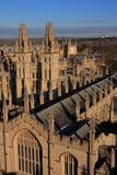 De Universiteiten van Oxford Stock Afbeeldingen
