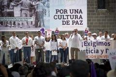 De universiteiten worden vertoond door femicide van Mara Fernanda Castilla Miranda royalty-vrije stock foto's