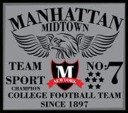 De universiteits grafisch ontwerp van New York Manhattan voor t-shirt Royalty-vrije Stock Foto's