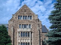 de universiteitsbouw stock foto