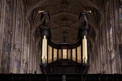 De universiteitsCambridge van de Koningen van het koor Universiteit Royalty-vrije Stock Foto's