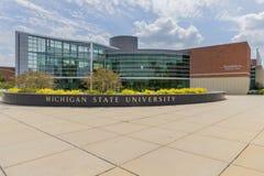 De Universiteitscampus van de Staat van Michigan stock foto
