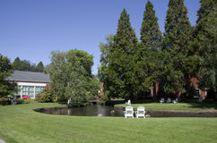 De universiteitscampus van Oregon Stock Afbeeldingen