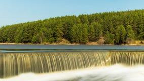 De Ural-rivier met dalingen Royalty-vrije Stock Foto