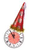 De uren van het nieuwjaar Stock Foto