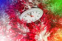De uren van het nieuwjaarklatergoud Royalty-vrije Stock Afbeeldingen